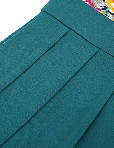 Vessos Damen Kleid A-Linie für Sommer Einfarbig Muster 9