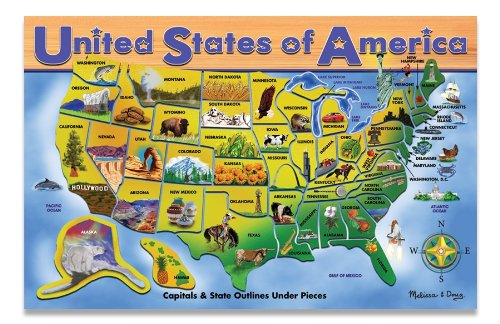 U.S.A. Map: Puzzles (Wooden) - Mini/Classic Puzzles
