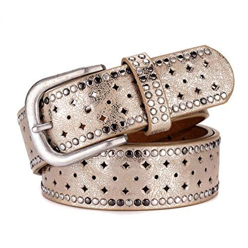 el Gürtelpunk Der Frau Pin-Schnalle Vintage Ledergürtel Für Damen-Damengürtel Mit Nietengürtel Für Frauen Weiblicher Weiblicher Gürtel ()