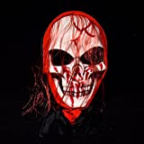 Bluelover Halloween Mask Bar Tanz Horror Scary Lange Haare Skull Ghost - 002