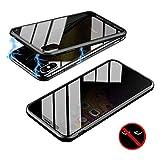 YTASA Anti-Peep Magnetic Phone Case Etui de Protection avec Double côtés en Verre...