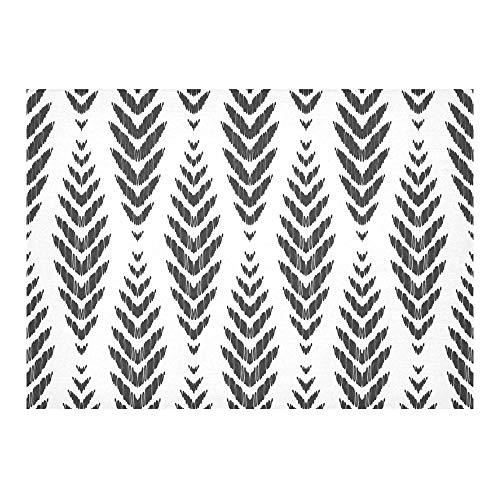 Glorious Wonderful Ethnic Style Benutzerdefinierte Baumwolle Leinen Printed Square Fleck Beständig Tischwäsche Tuch Abdeckung Tischdecke Für Küche Home Esszimmer Tischplatte Decor 60 X 84 Zoll (Chevron Navy Tischdecke)