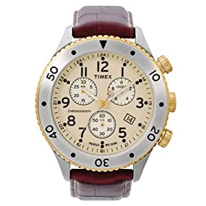 Timex E-Class Chronograph Beige Dial Men's Watch - T2M705