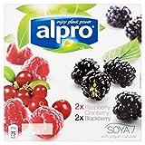 Alpro Blackberry and Raspberry-Cranberry Yoghurt, 4x125g