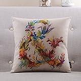Mehr Farben Amerikanischen Landhausstil Kissen PP Baumwoll-Kissen Sofa-Bett halten Baumwolle Kissenbezug-G 55x55cm(22x22inch)VersionB