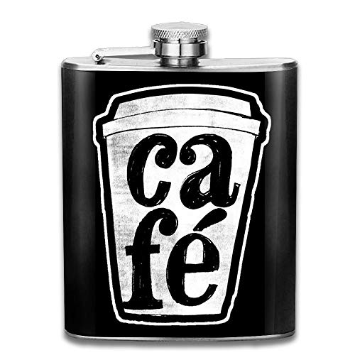 Portable 7oz Stainless Steel Hip Flask Alcohol Flagon Coffee