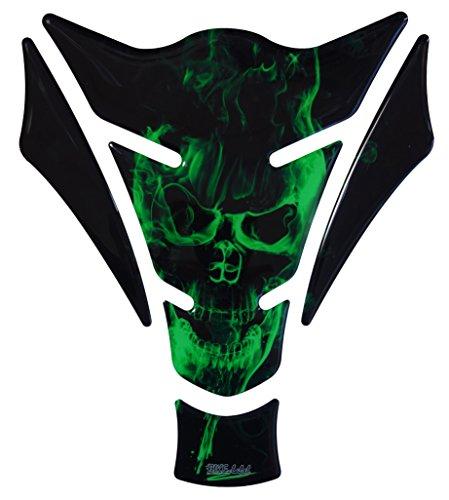 R1200GS 3d–500157–Ghost Green Diseño de Calavera/llamas verde–universal para Yamaha, Honda, DUCATI, SUZUKI,...