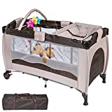 WeFun Luxury Travel Cot With Newborn Bassinet and Changing Station...