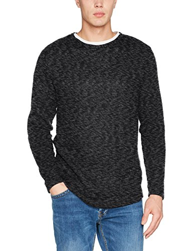 JACK & JONES Herren Sweatshirt Jorcoda Sweat Crew Neck Grau (Asphalt Fit:Reg Fit), X-Large