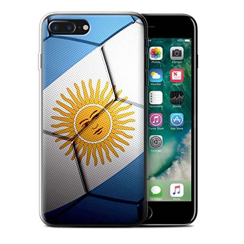 Coque Gel TPU de STUFF4 / Coque pour Apple iPhone 8 Plus / Portugal Design / Nations de Football Collection Argentine
