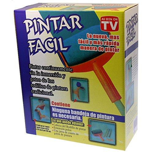 Pintar Facil–Rodillo para pintura recargable, con barra extensible y recipiente para pintura/Anti gocciolamento