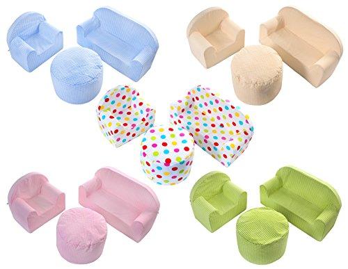Babyblume Polstermöbel Sitzgruppe Kindermöbel Pikolo in verschiedenen Farben (Drops)