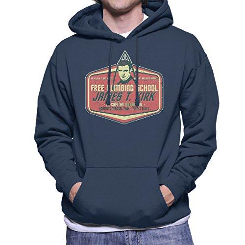 Captain James T Kirk Climbing School Star Trek Men's Hooded Sweatshirt