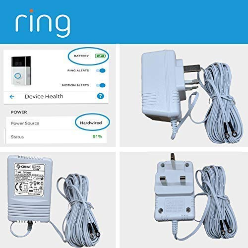 White Ring Video Doorbell,Video Doorbell 2,Video Doorbell Pro Power Supply Ring Video Doorbell Adapter New Upgrade