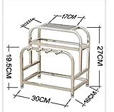 DECJ Kitchen Storage Rack/Bacchette Holder/Coltello/Tagliere In Acciaio Inox/Portaspezie/Pavimento E Montaggio A Parete Dual-A-Scopo Aack,30Cm*12Cm*27Cm