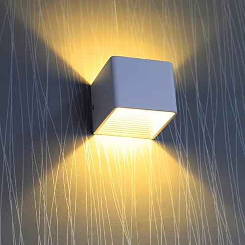 BAYTTER® 3W warmweiß Wasserdichte IP44 LED Wandleuchte, aus Alumimum Up und Down Design 2700K [Energieklasse A++]