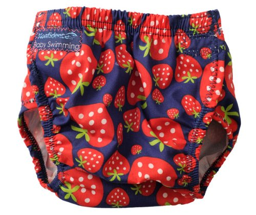KONFIDENCE SWIM NAPPY   ONE SIZE   ADJUSTABLE / REUSABLE   STRAWBERRY