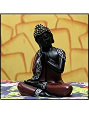 eCraftIndia Antique Finish Handcrafted Thinking Buddha Polyresin Statue