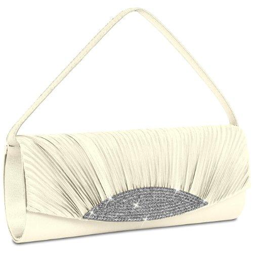 CASPAR Taschen & Accessoires, Poschette giorno donna Ivory