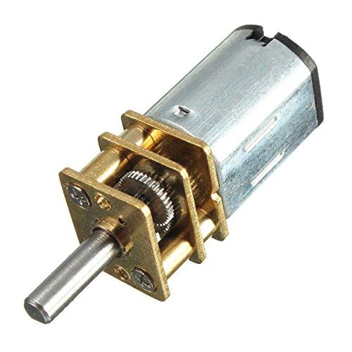 Yosoo Mini DC 6 / 12V Kurzer Welle Drehmoment Getriebemotor 50 / 200 / 300 RPM mit Metall Getriebe Ersatz N20 für RC-Car, Roboter Modell, DIY Engine Spielzeug (12V 200RPM)