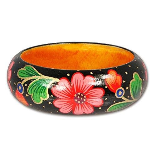 SilberDream Armreif aus Holz Flower, Armreifen für Damen Holzarmreifen RAV398S