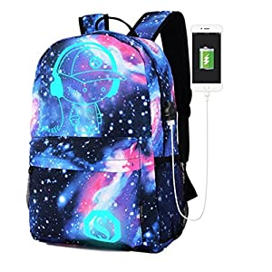 OYSOHE Unisex Tasche,Galaxy Schultasche Rucksack Sammlung Leinwand USB Ladegerät für Teen Girls Kids