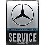 Nostalgic-Art 23253 Mercedes-Benz - Service | Retro Blechschild | Vintage-Schild | Wand-Dekoration | Metall | 30x40 cm