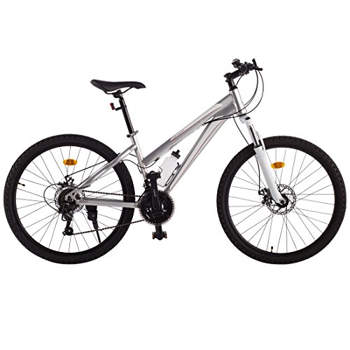 Ultrasport 331100000190 Bicicleta De Trekking, Cambio De Cadena, 21 Marchas, Niñas, Plata, 26 Pulgada