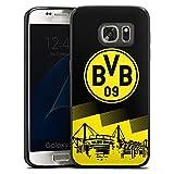 DeinDesign Slim Case Silikon Hülle Ultra Dünn Schutzhülle kompatibel mit Samsung Galaxy S7 BVB Logo Borussia Dortmund