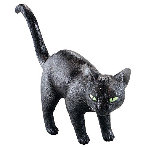 8schwarz Katze Gummi Prop (Kitty-katze Halloween-ideen)