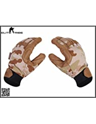 caza guantes de combate dedo completa guantes tácticos ligero Multicam Arid (XL)