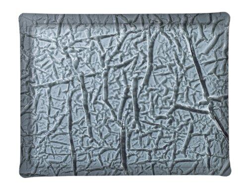 Platex 404636091 Plateau en Acrylique Givré Perle Noir 46 x 36 cm