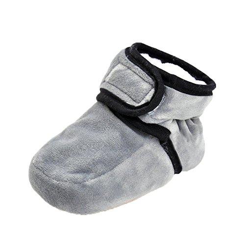 JILIGUALA Baby Stiefel Infant Fleece Hausschuhe Schneestiefel Premium Soft Cosy Sole Warme Winter Pre-Walker Kleinkind Stiefel mit Klettverschluss -
