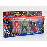 99Shoppy Set of 5 Avenger Action Figures in Multicolor - Thor-Hulk and More