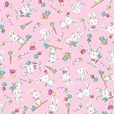 Windham Bunnies Flanellstoff – Kaninchen Hop Pink –