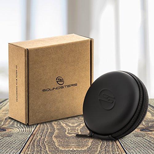deleyCON SOUNDSTERS Universelle Kopfhörer-Tasche - Case für In-Ear Ohrhörer - Robuster Schutz für Unterwegs - integriertes Fach - für unzählige Kopfhörer passend - 6