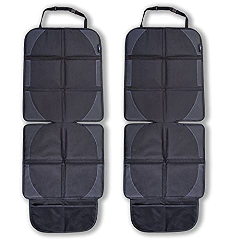 Life In Gear – High Quality Car Seat Protector for Leather or Cloth Car Seats (2-Pack) – Non-Slip, Waterproof Seat Cover for Baby, Child and Dog