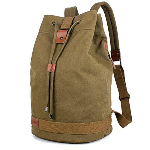 Gli appassionati di outdoor, Outdoor alpinismo borsa tamburo borsa tela impermeabile borsa a tracolla escursionismo zaino, verde Green