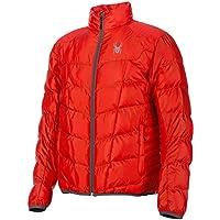 Spyder Geared Synthetic Down Jacket - Chaqueta de esquí para hombre, color rojo, talla XL