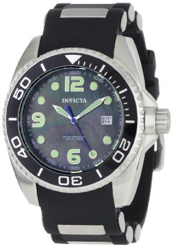 Preisvergleich Produktbild Invicta Swiss Quartz Black & Silver-tone Mens Watch 0492