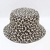 MAOZIJIE Sommer Reversible Cappello Pescatore Leopard Fischer Caps Eimer Hüte Für Damen Damen