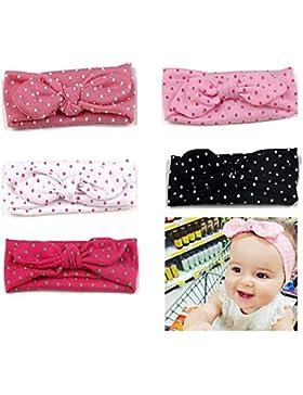 5 Stück Stirnbänder Baby Mädchen Knoten Haarband Kinder Kopfband Turban Haarbänder Taufe Headwrap Newborn Stirnband