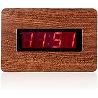 kwanwa LED orologio da parete a solo, look legno venature, può essere sistemato ovunque senza un umständlichen cordino