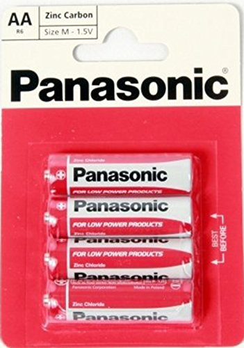 PANASONIC SIZE AA 1.5V ZINC CARB...