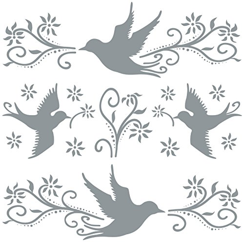 AVERY Zweckform 59387 Aufkleber Warnvögel, Fensterschutz, gegen Vogelschlag, Deko-Vögel