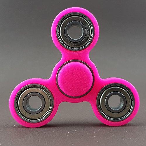 Fidget Spinner Brass Hand Toy Finger Pocket Desktoy ADHS Stress 3D Druck (Star, Pink)