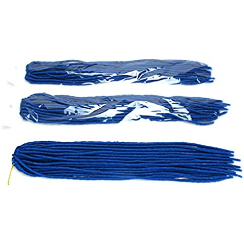 Suave Dread Cerradura extensiones de pelo sintético sintética locomotoras trenzado fibra kanekalon Cabello Crochet Twist mechones 20(Pack de