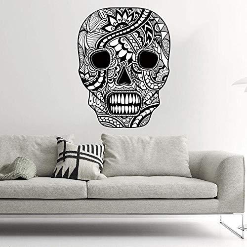 Schwarzer Schädel Wandaufkleber Halloween lustiges Spiel Glasfenster Aufkleber dekorativer Aufkleber 3 Arten von Spezifikationen