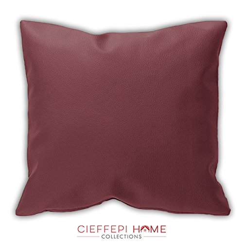 Cieffepi home collections federa copricuscino ecopelle (70x70, bianco)