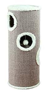 Trixie 4338 - Arbre à chat format tour - Marron/beige - Diamètre 40 cm/Hauteur 100 cm